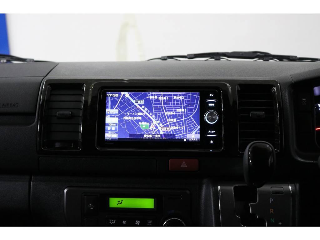 もちろんナビも装着しております!カロッツェリアSDナビ・フルセグTV・Bluetooth接続可能!! | トヨタ ハイエースバン 2.8 スーパーGL ダークプライムⅡ ロングボディ ディーゼルターボ 4WD