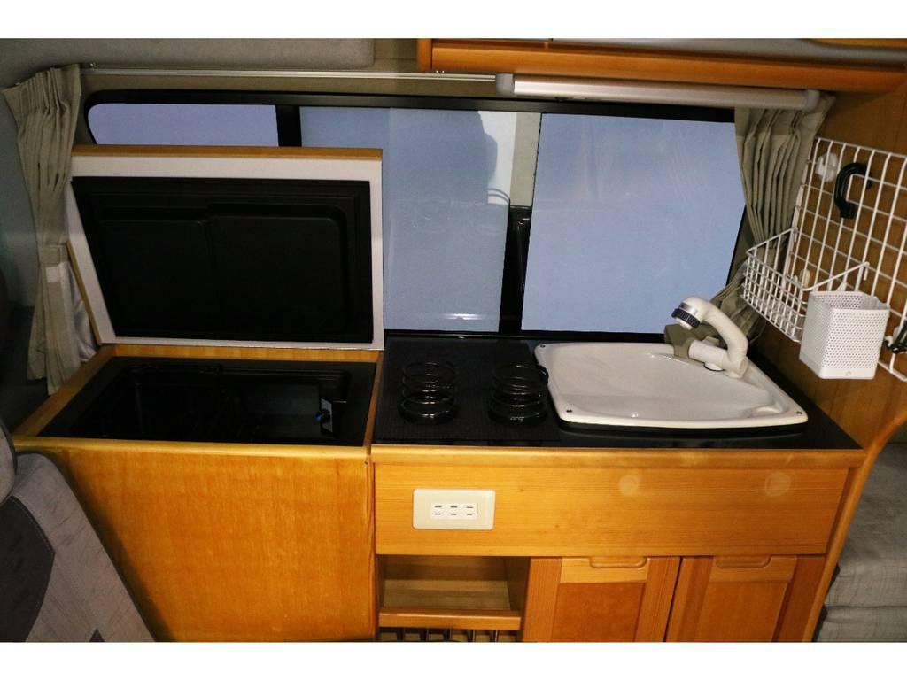 シンク&冷蔵庫完備!!!!簡単な洗い物やドリンクの冷蔵が可能です!
