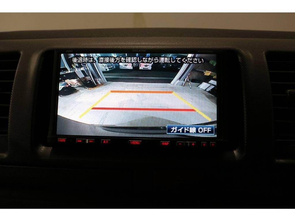 バックカメラ装着済みなので後方も安心!!!! | トヨタ ハイエースバン 3.0 スーパーGL ロング ディーゼルターボ