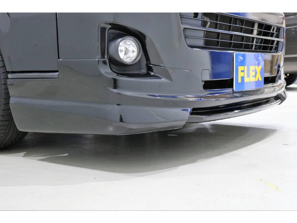 社外フロントリップスポイラー装着済みです! | トヨタ ハイエースバン 3.0 スーパーGL ロング ディーゼルターボ