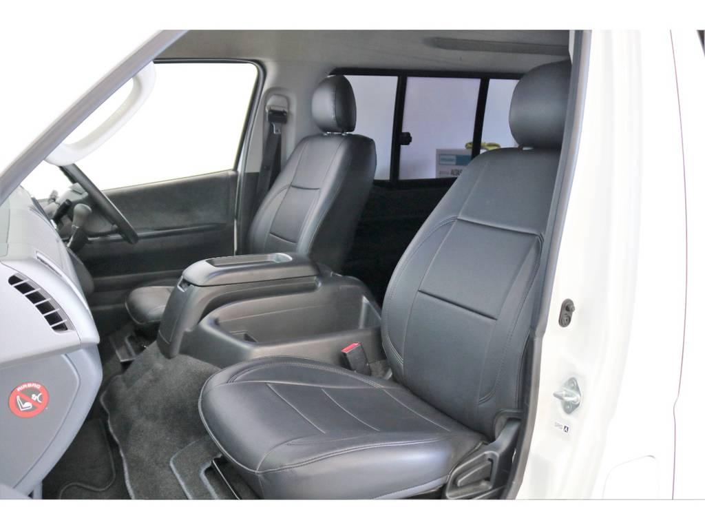 フィッティングの良いPVCレザーシートカバー | トヨタ ハイエース 2.7 GL ロング ミドルルーフ