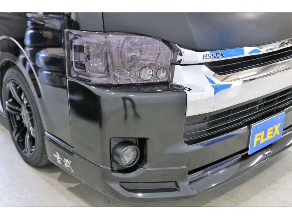 ヘッドライト・フォグカバーも装着済みです!!! | トヨタ ハイエース 2.7 GL ロング ミドルルーフ