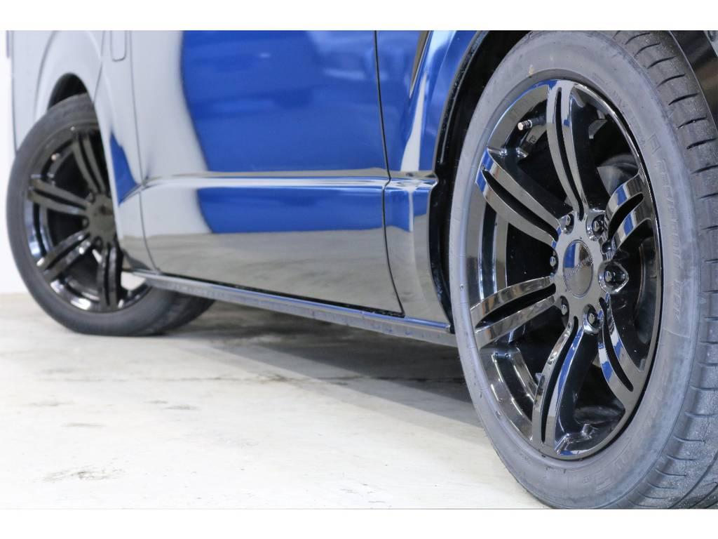 415COBRA製バッドラッカー18インチアルミホイール!!!タイヤパンク保証も付けれます!!! | トヨタ ハイエース 2.7 GL ロング ミドルルーフ