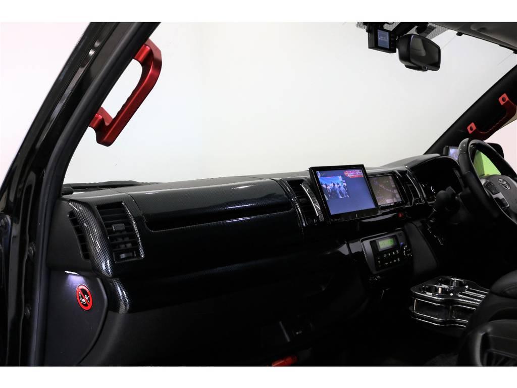 アルミ製アシストグリップにウェルカムライトも装着してあります。もうプラスで付けるものはないんじゃないかなと思います。 | トヨタ ハイエース 2.7 GL ロング ミドルルーフ
