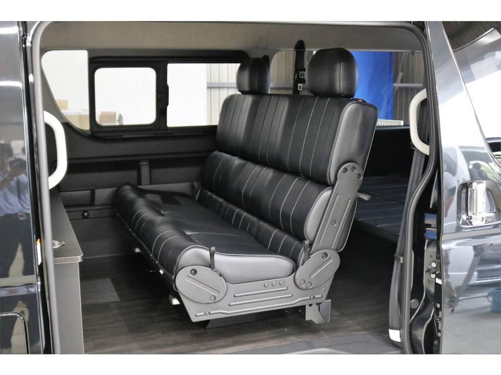 FLEXオリジナル内装架装「R2」 | トヨタ ハイエース 2.7 GL ロング ミドルルーフ オリジナル内装R2