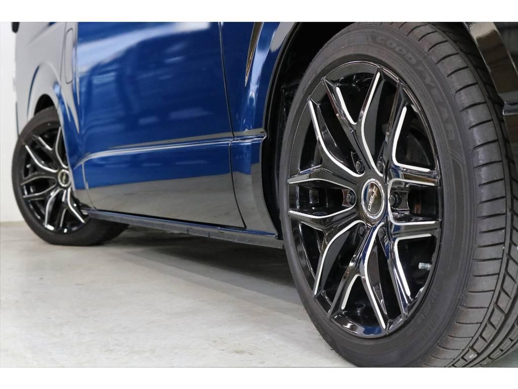 FLEXオリジナル Dlfe D01 18インチアルミホイール | トヨタ ハイエース 2.7 GL ロング ミドルルーフ オリジナル内装R2