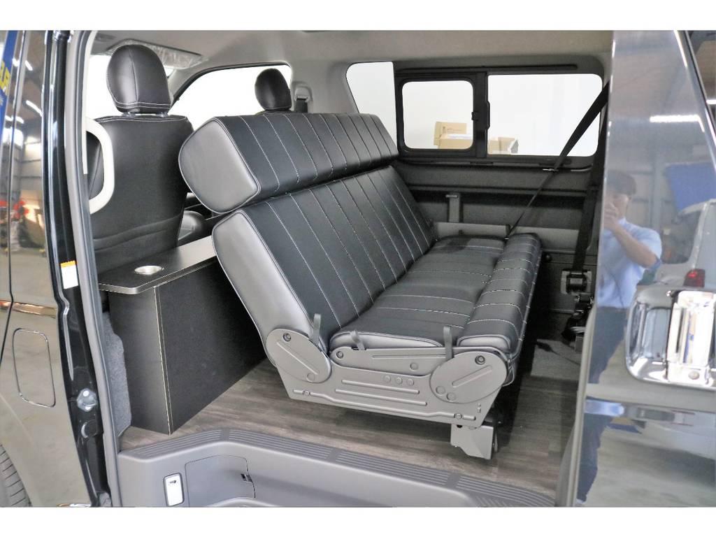 3人掛けロングベンチシート使用!!!!!! | トヨタ ハイエース 2.7 GL ロング ミドルルーフ オリジナル内装R2
