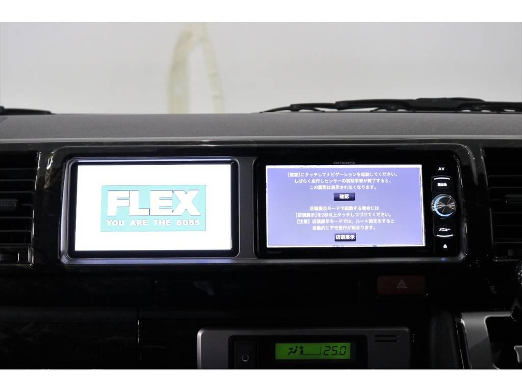 サブモニター装着済みなのでナビ画面を映したまま、DVD・テレビが見れます!!!!!! | トヨタ ハイエース 2.7 GL ロング ミドルルーフ オリジナル内装R2