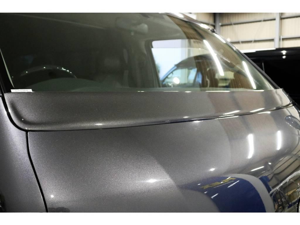 ワイパーカウルを装着してスタイリッシュに! | トヨタ ハイエースバン 3.0 スーパーGL ワイド ロング ミドルルーフ ディーゼルターボ