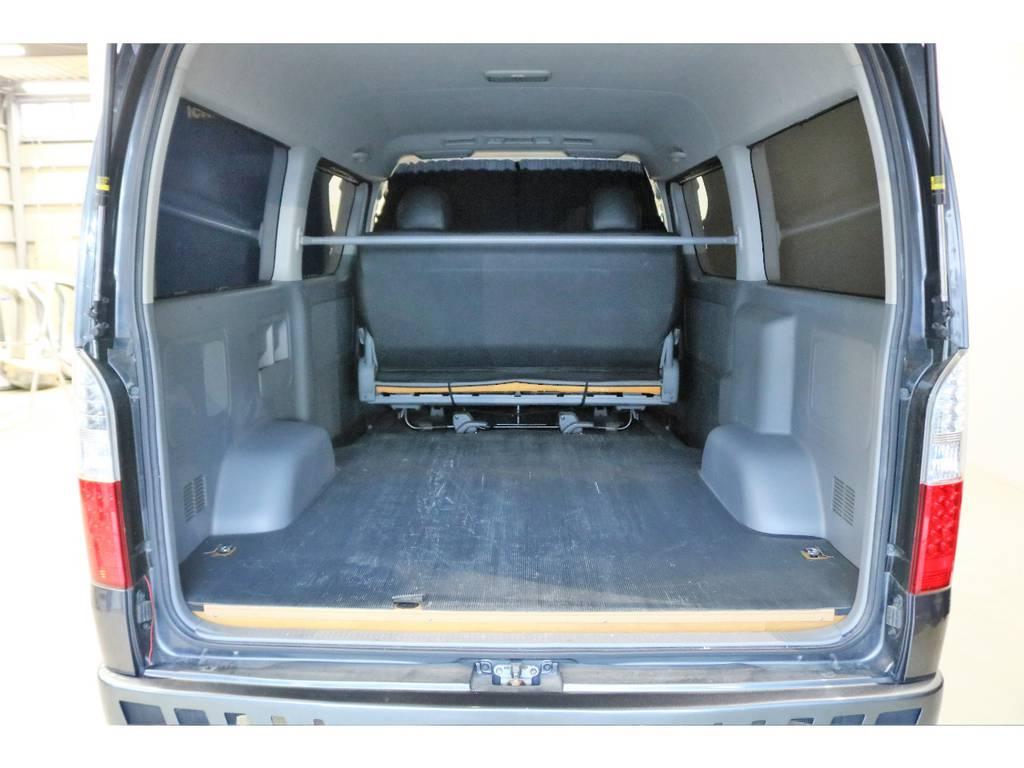 簡易床張り施工済み車両で、ハードに扱っても大丈夫ですね♪ | トヨタ ハイエースバン 3.0 スーパーGL ワイド ロング ミドルルーフ ディーゼルターボ