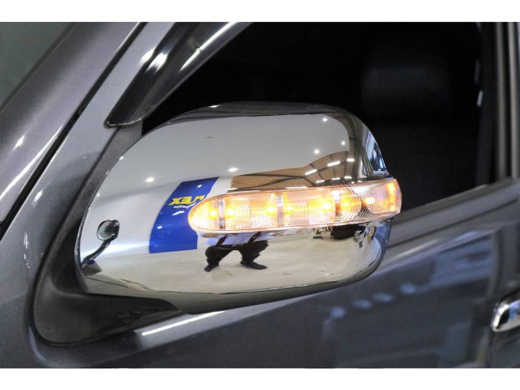LEDウィンカー付きドアミラー装着済みです! | トヨタ ハイエースバン 3.0 スーパーGL ワイド ロング ミドルルーフ ディーゼルターボ