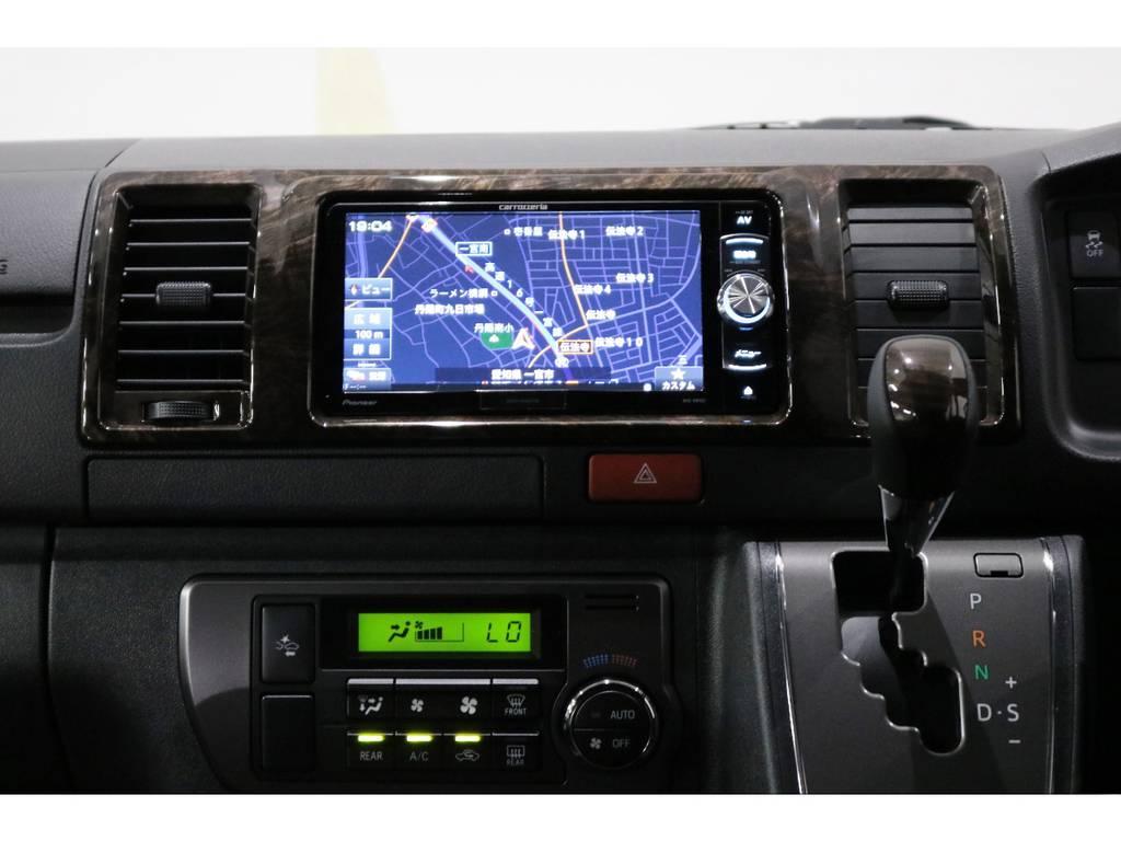 カロッツェリアSDナビ・フルセグTV・Bluetooth接続可能!!! | トヨタ ハイエースバン 2.0 スーパーGL 50TH アニバーサリー リミテッド ロングボディ 50TH