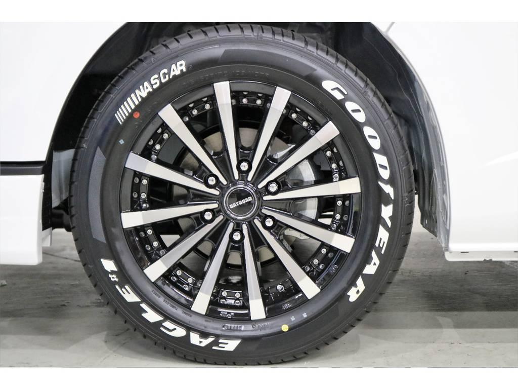 ホイールにはBAY ROAD17インチアルミホイールを新品で装着♪ | トヨタ ハイエースバン 2.0 スーパーGL 50TH アニバーサリー リミテッド ロングボディ 50TH