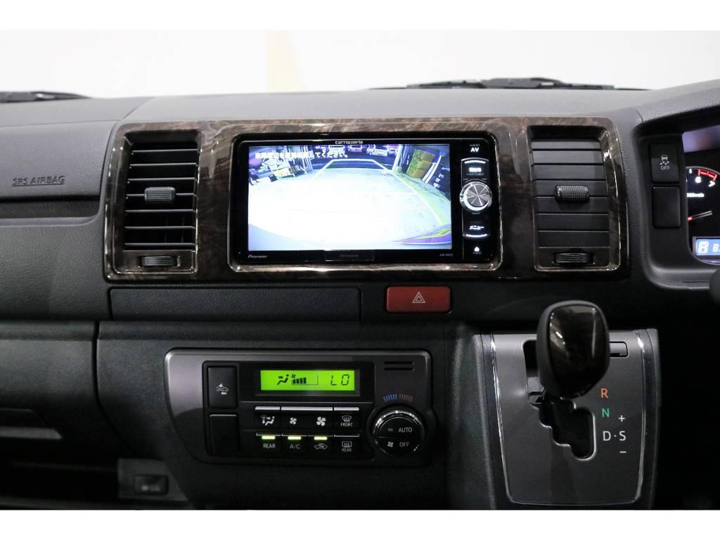 配線加工済みなので、ナビゲーションの画面でバックカメラを見れます! | トヨタ ハイエースバン 2.0 スーパーGL 50TH アニバーサリー リミテッド ロングボディ 50TH
