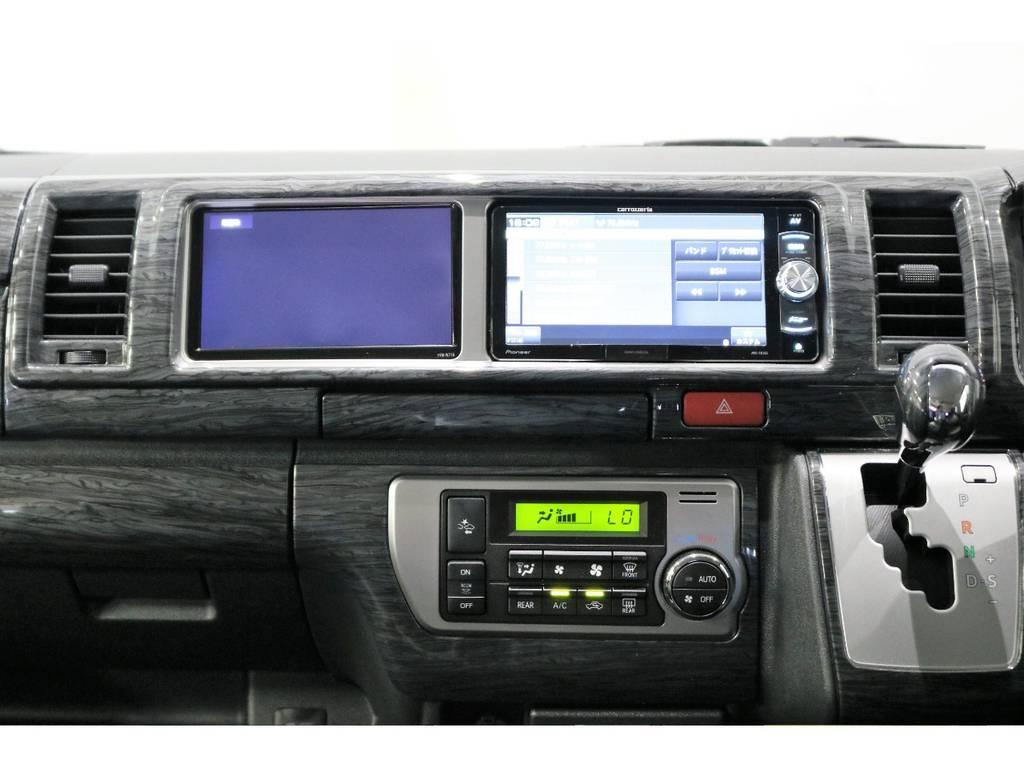 カロッツェリアSDナビ・フルセグTV・Bluetooth接続可能!もちろん人気のサブモニターも完備!
