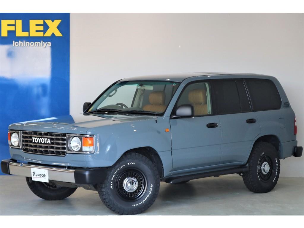 FLEXがお送りする車選びの新しい選択肢【Renoca】の中でも大人気の【106】完成しました!ランクル100をベースに60角目フェイスをインストール♪