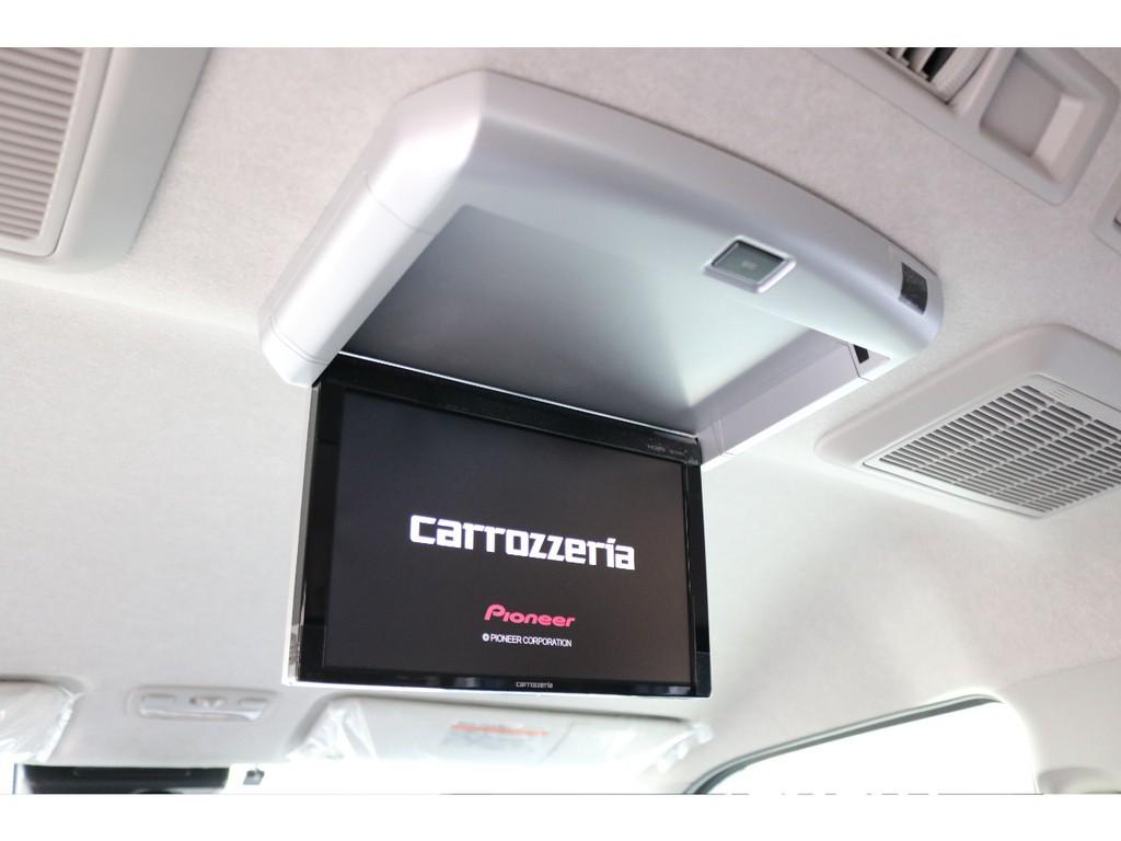 カロッツェリア製10.2インチフリップダウンモニター!