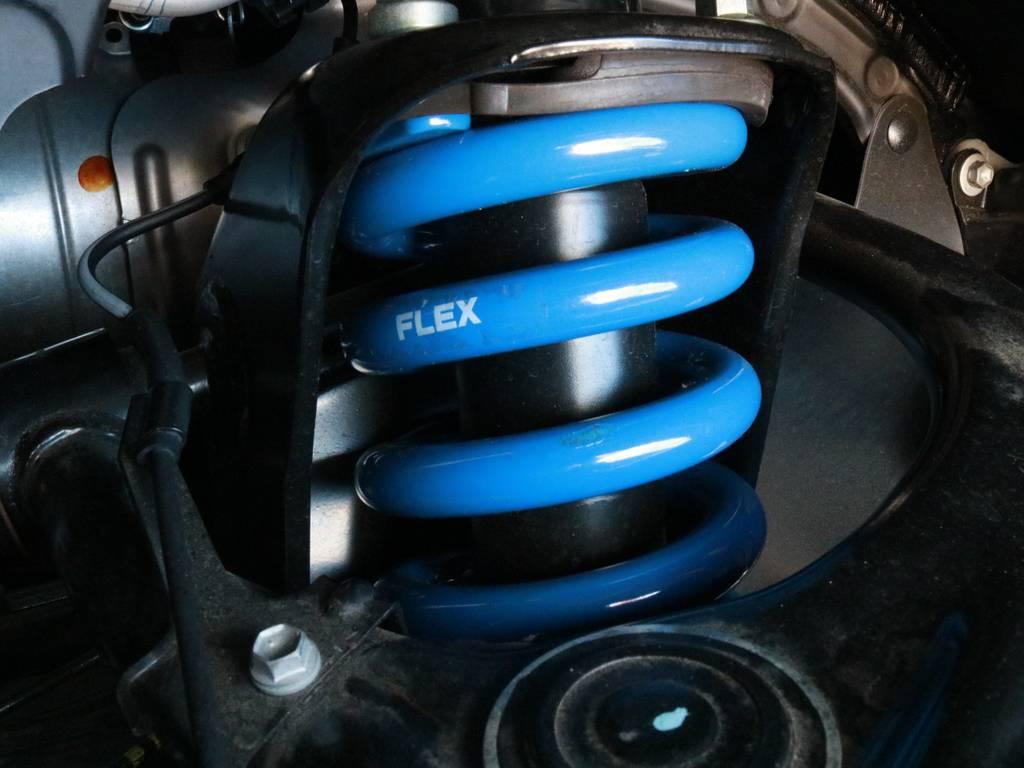 FLEXオリジナル2インチUPコイル【新品】 | トヨタ ランドクルーザープラド 2.8 TX Lパッケージ Gフロンティア ディーゼルターボ 4WD 試乗車 カスタム多