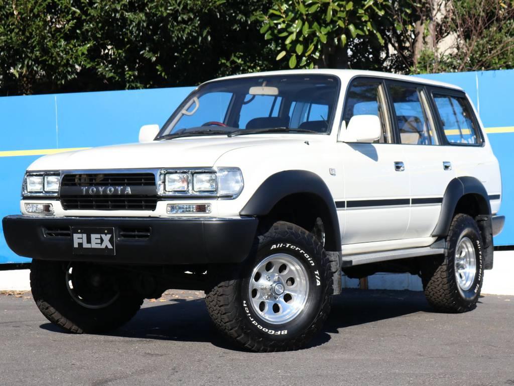 都会が似合う、WHITE×BLACK | トヨタ ランドクルーザー80 4.5 VXリミテッド 4WD