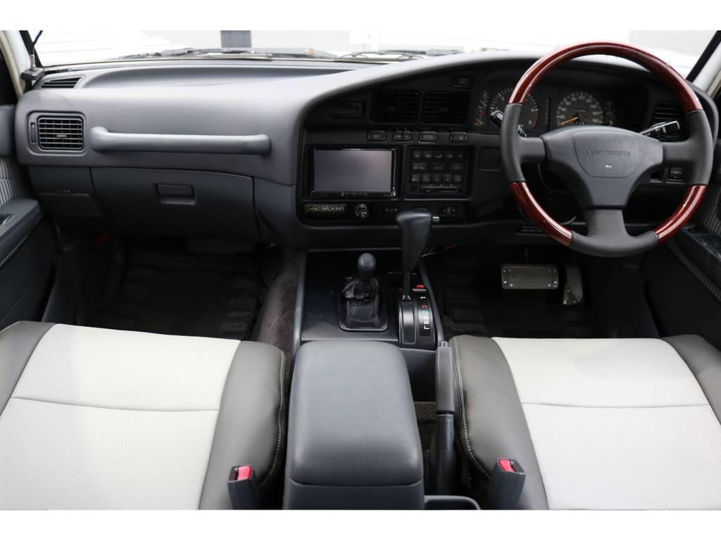 シートカバー、ステアリング新品にて装着しましたので気持ち良く乗れます | トヨタ ランドクルーザー80 4.5 VXリミテッド 4WD