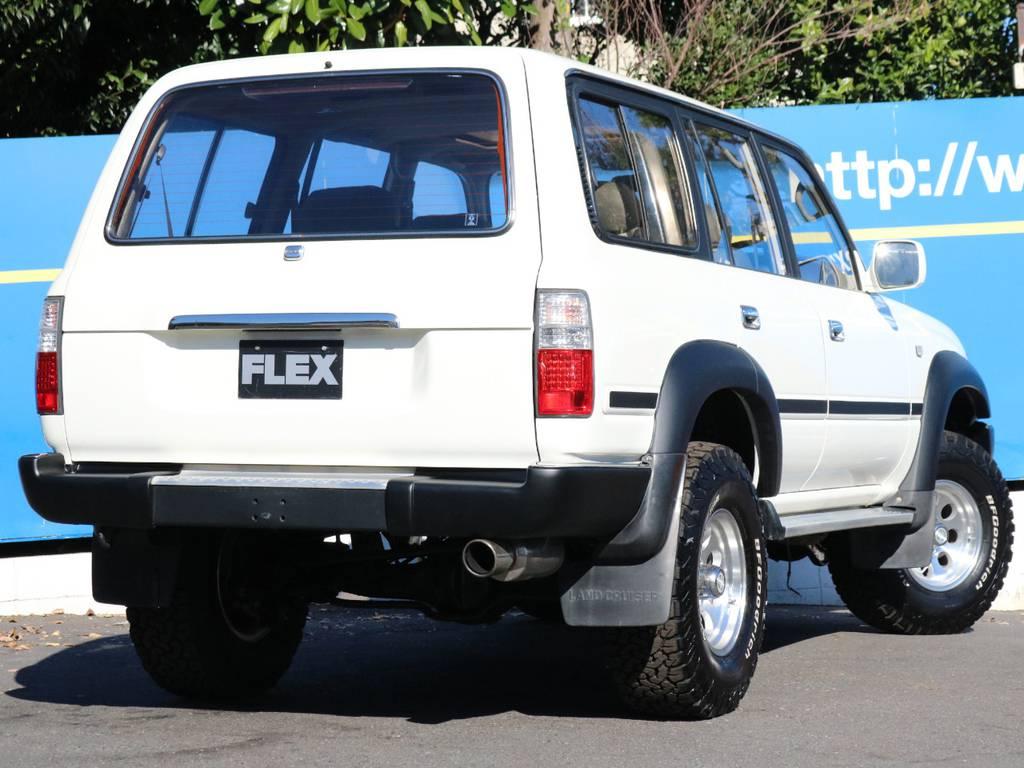 リア背面レス | トヨタ ランドクルーザー80 4.5 VXリミテッド 4WD