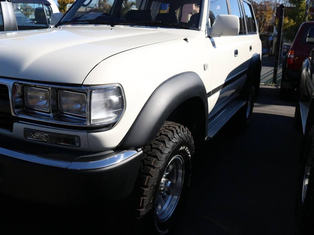 オーバーフェンダー、艶無しブラックで塗装しています | トヨタ ランドクルーザー80 4.5 VXリミテッド 4WD