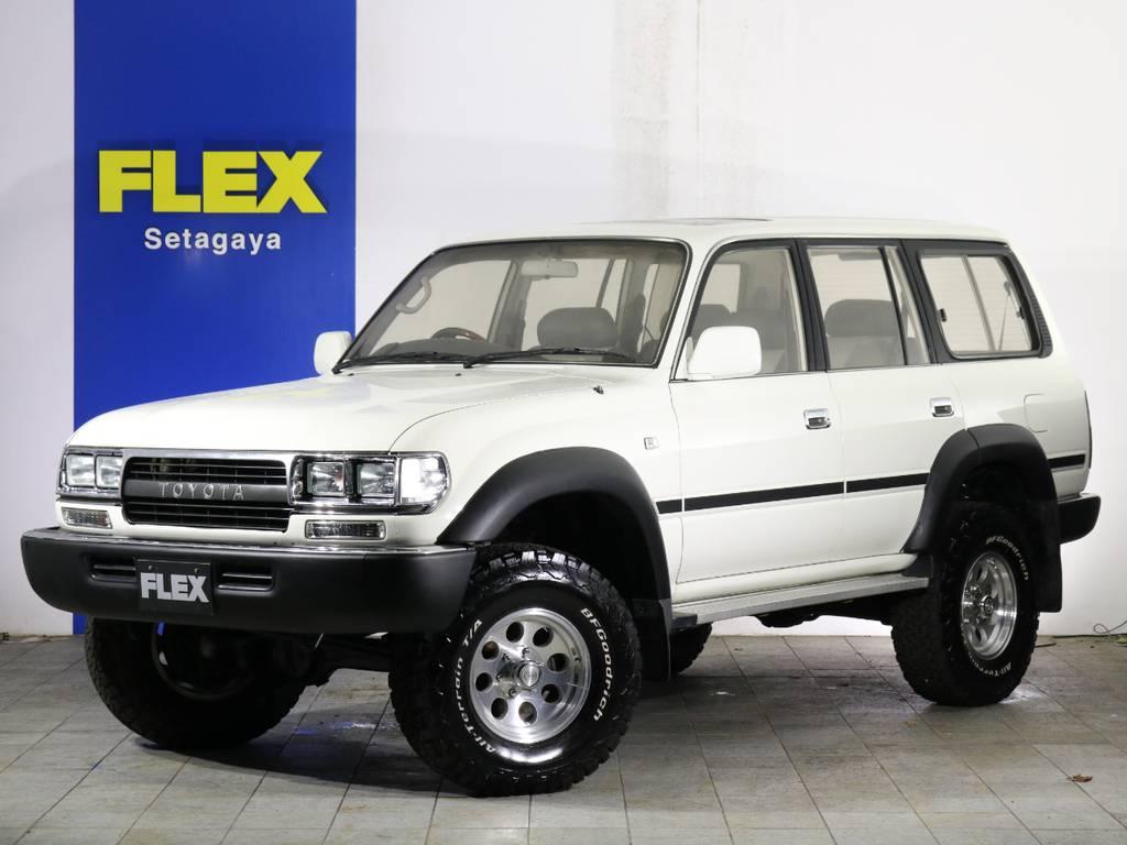 WHITE×BLACK ニューペイント | トヨタ ランドクルーザー80 4.5 VXリミテッド 4WD