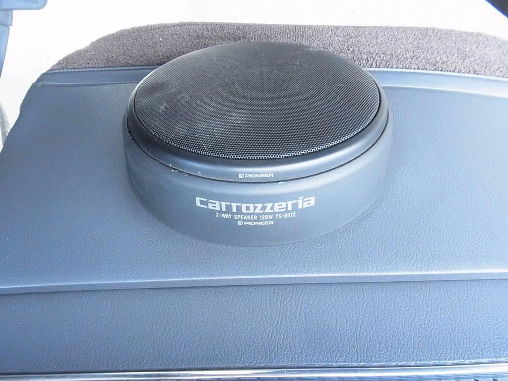 カロッツェリアスピーカーで高音質を楽しめます! | トヨタ ランドクルーザー80 4.5 VXリミテッド 4WD