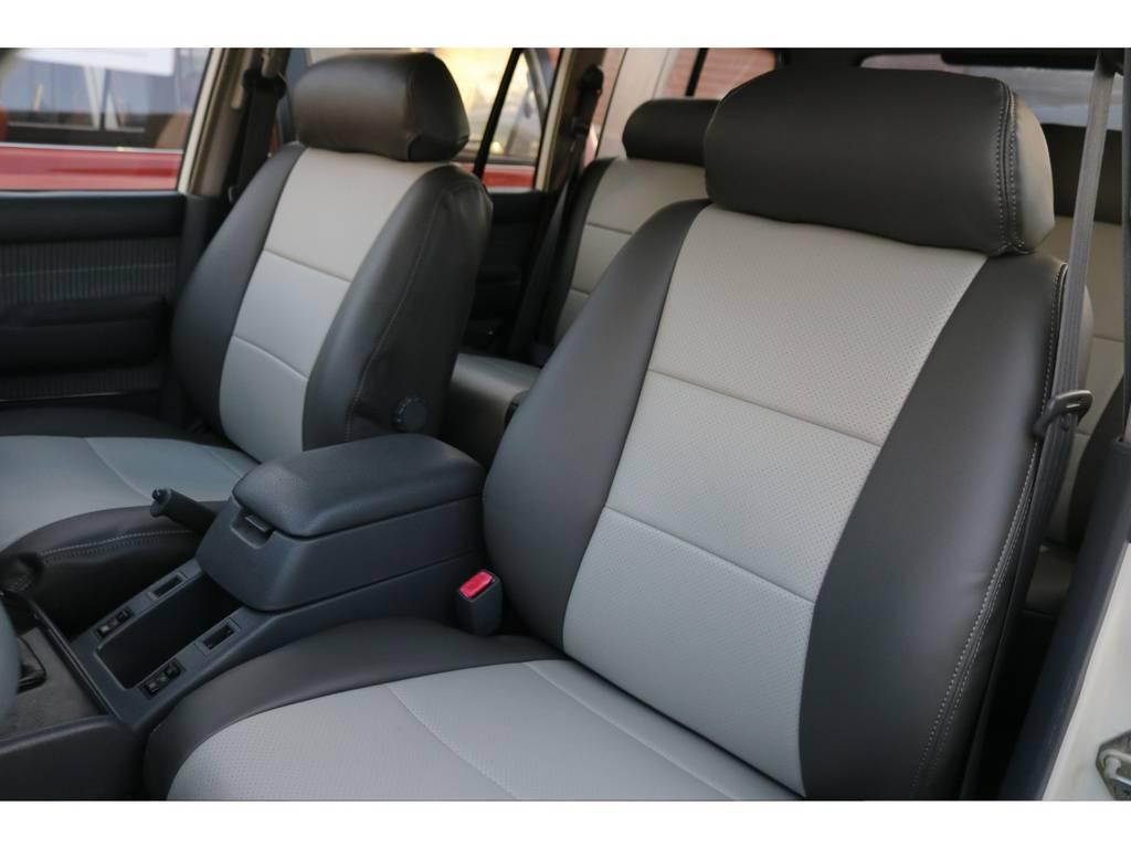 オリジナルシートカバー。インテリアのカラーとマッチしております。 | トヨタ ランドクルーザー80 4.5 VXリミテッド 4WD