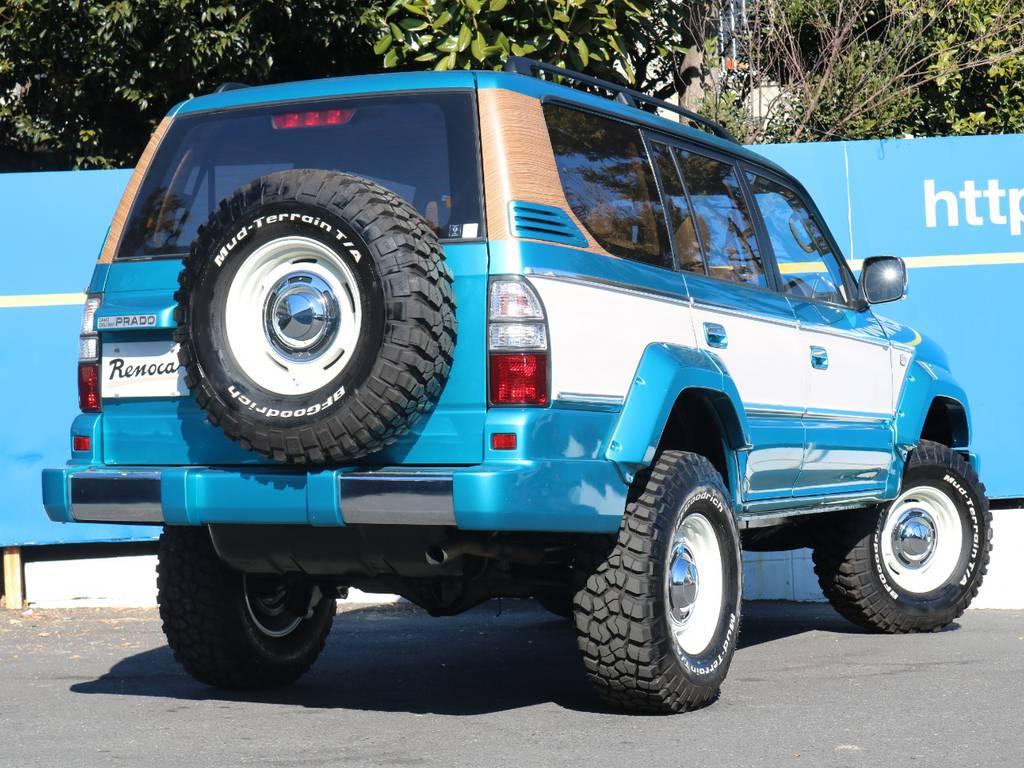 タイヤホイールは全て新品!もちろん背面もです! | トヨタ ランドクルーザープラド 2.7 TX 4WD LTD
