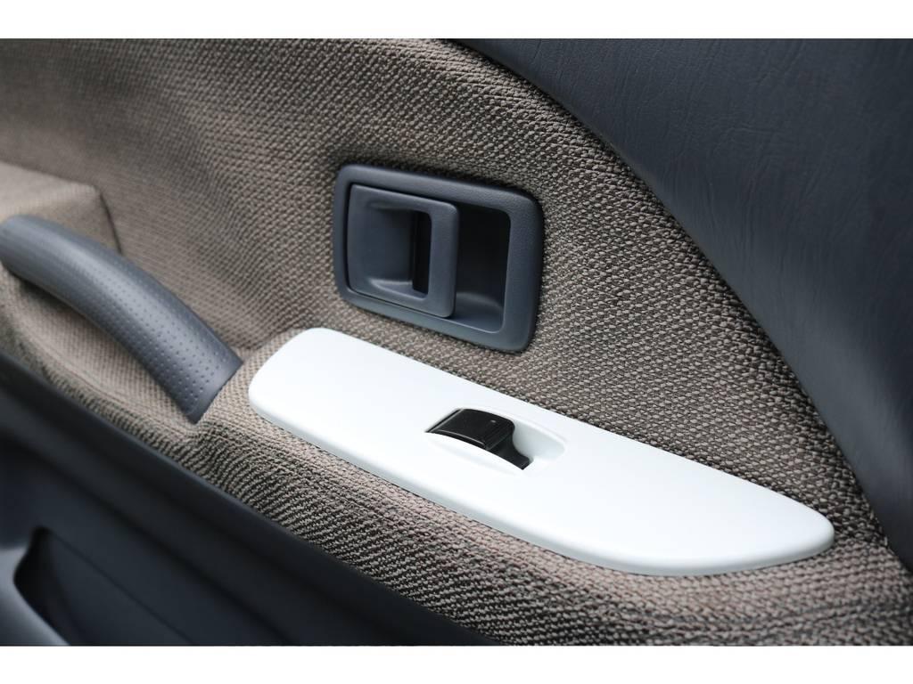 ホワイトに塗装したPWスイッチ | トヨタ ランドクルーザープラド 2.7 TX 4WD LTD