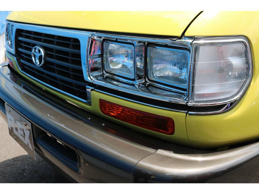 輸出用角目4灯新品インストールでアメリカンレトロなフェイスに!   トヨタ ランドクルーザー80 4.5 VXリミテッド 4WD