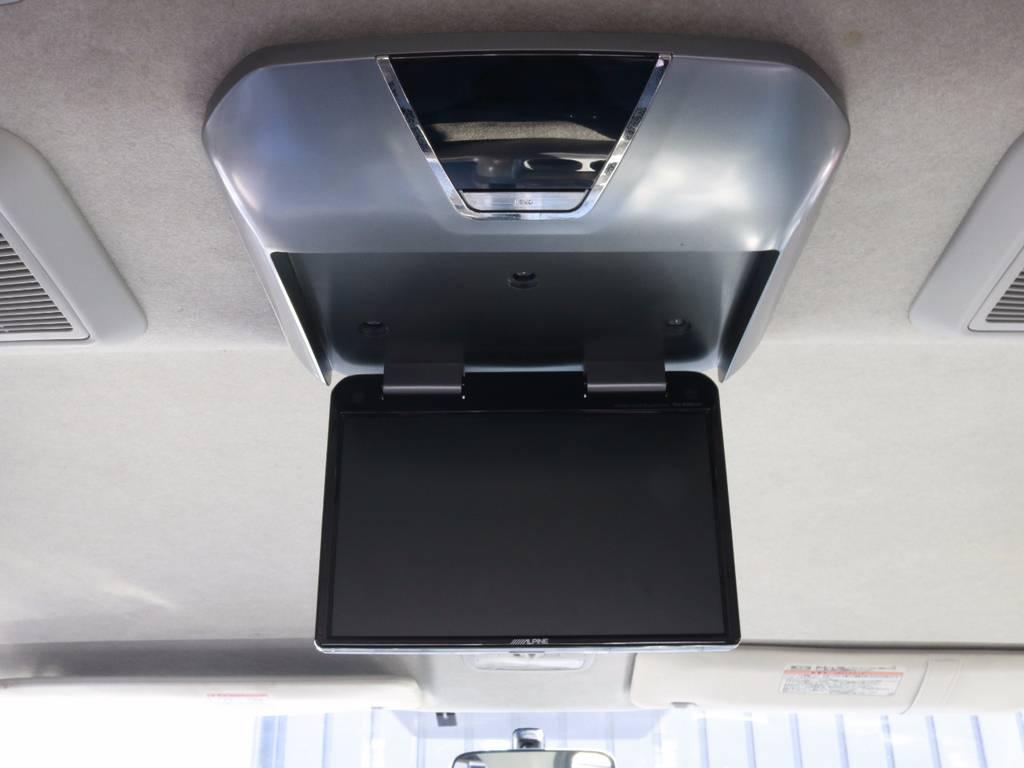 ドライブに絶対必須のフリップダウンモニター付き!!子供たちが静かになる伝説のアイテムです!!ジブリ流しましょう!!!笑 | トヨタ ハイエース 2.7 GL ロング ミドルルーフ