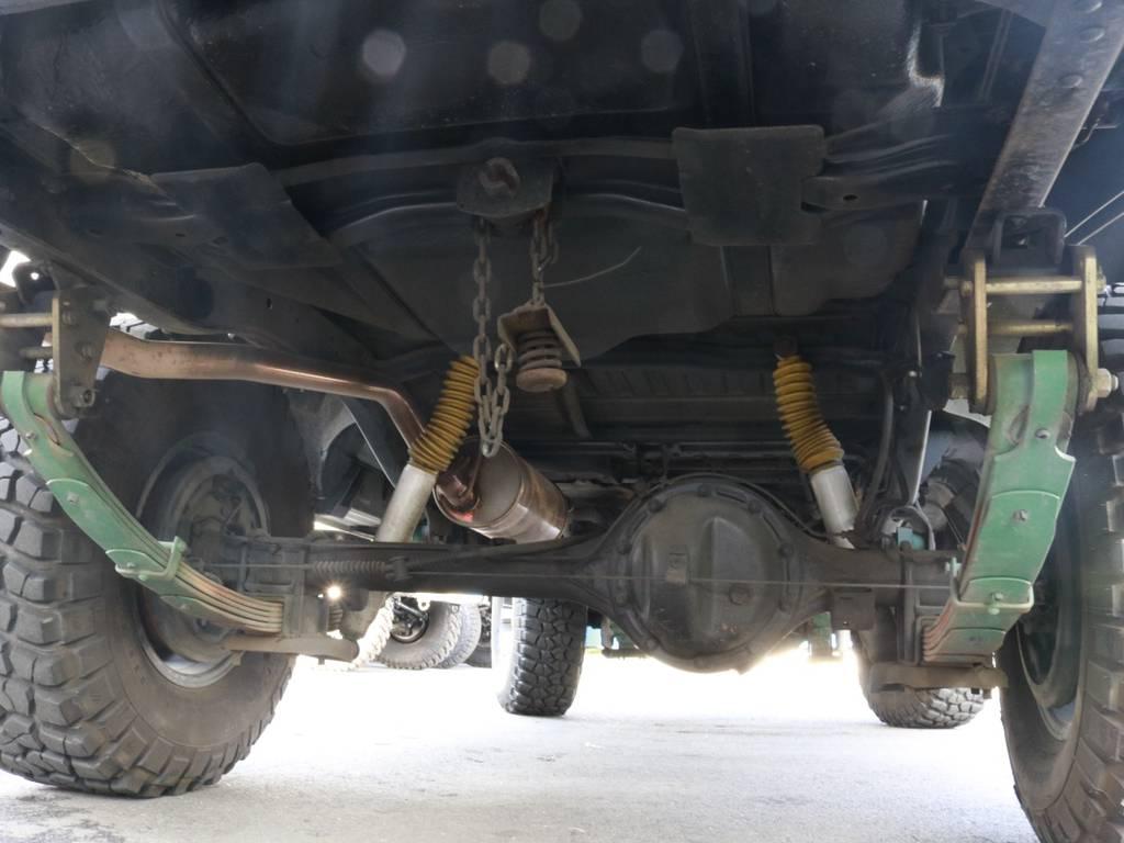 下廻りのサビ具合も少なめ!程度良好!!まだまだ現役!!高圧洗浄&防錆加工してのご納車ですよ!! | トヨタ ランドクルーザー60 4.0 VX ハイルーフ 4WD