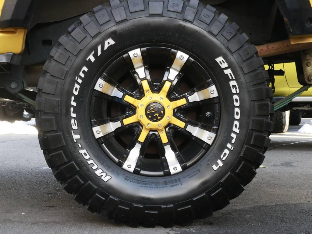 MG ビースト アルミホイール!!キャップもイエロー塗装!細かいところまでカッコいい!!! | トヨタ ランドクルーザー60 4.0 VX ハイルーフ 4WD