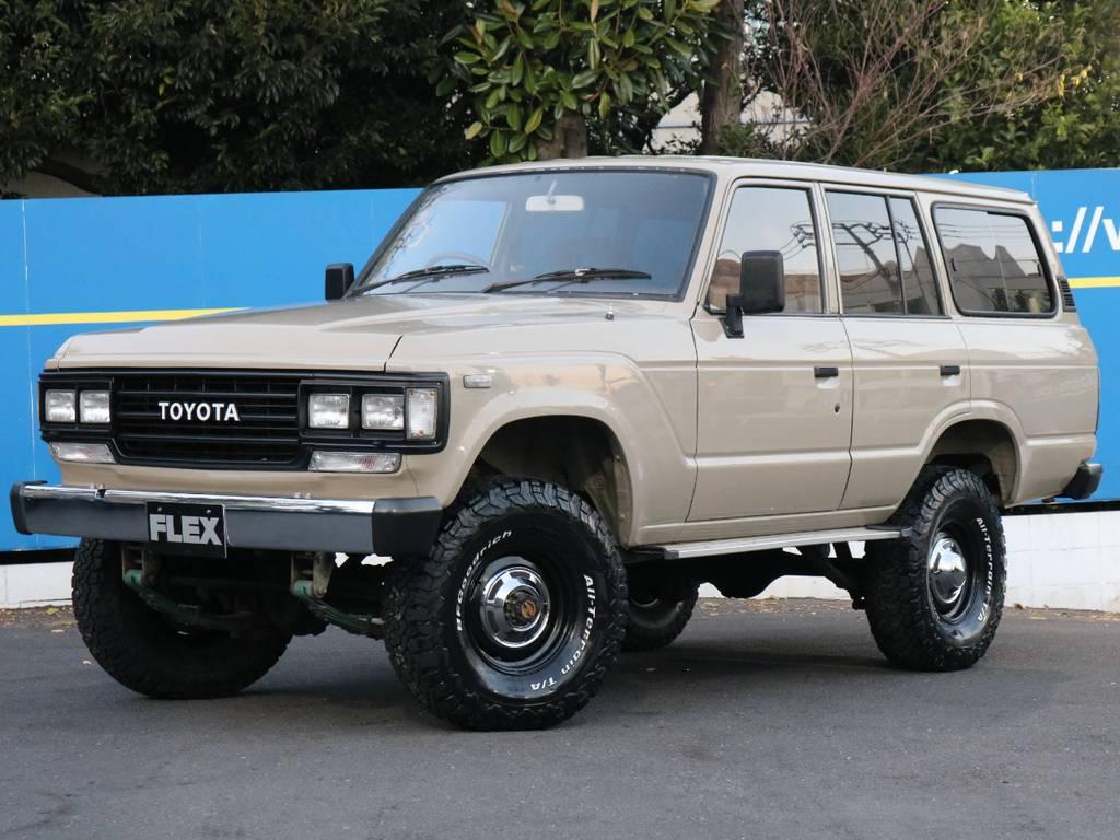 渋さのあるデューンベージュ | トヨタ ランドクルーザー60 4.0 VX ハイルーフ 4WD