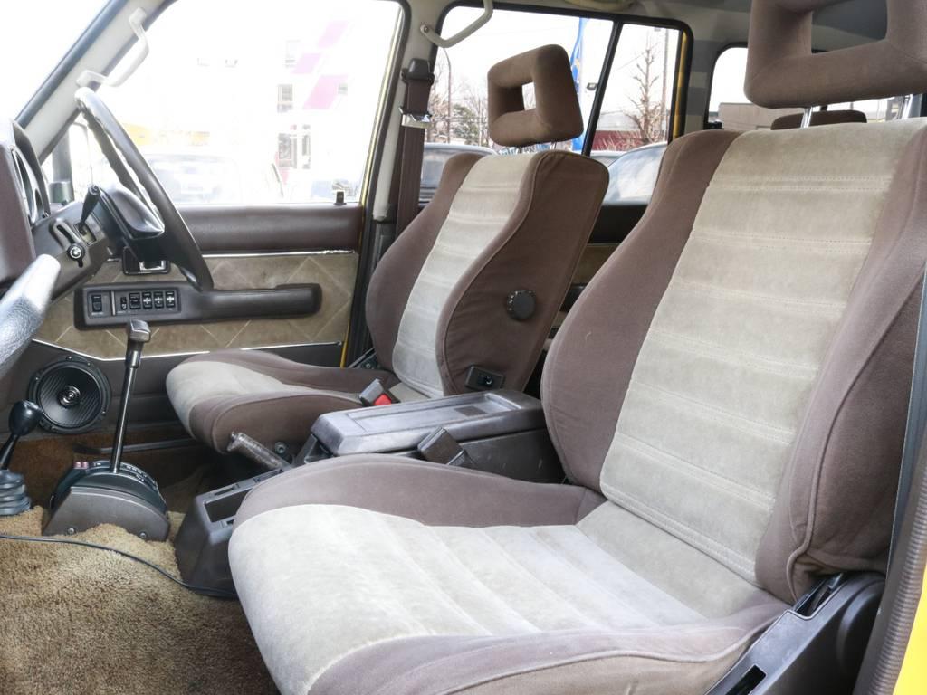 シートヘタリも少なくシミもありませんよ!内装カラーも味があります! | トヨタ ランドクルーザー60 4.0 VX ハイルーフ 4WD