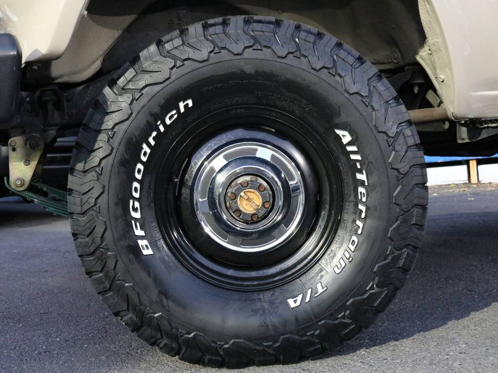 US純正スチールホイール×BFGoodrichATタイヤ | トヨタ ランドクルーザー60 4.0 VX ハイルーフ 4WD