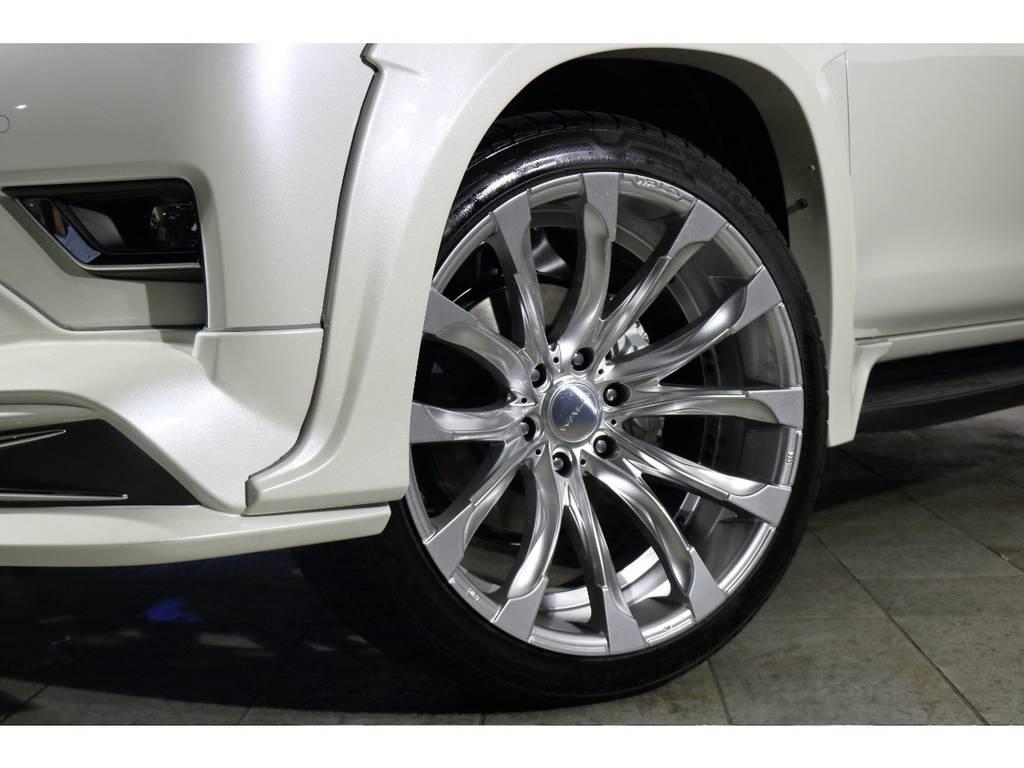 WALDアルミホイールJARRET 22インチ! | トヨタ ランドクルーザープラド 2.7 TX Lパッケージ 4WD 5人