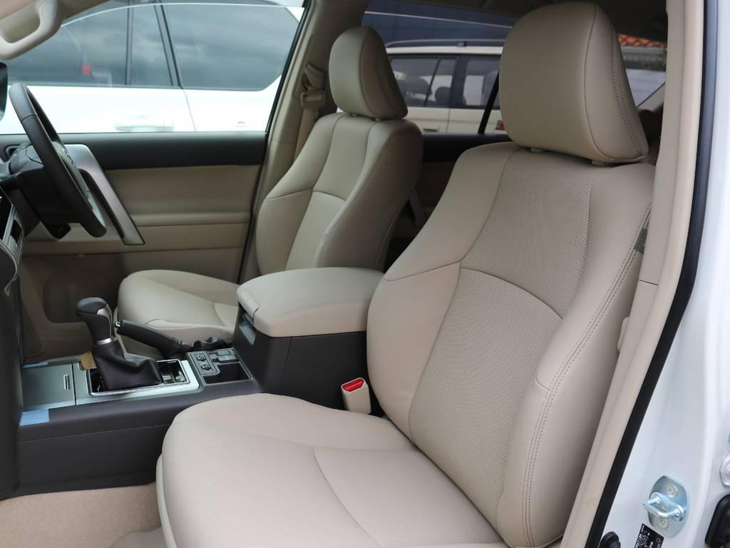 ベージュ内装!シックで高級感あります! | トヨタ ランドクルーザープラド 2.7 TX Lパッケージ 4WD 5人