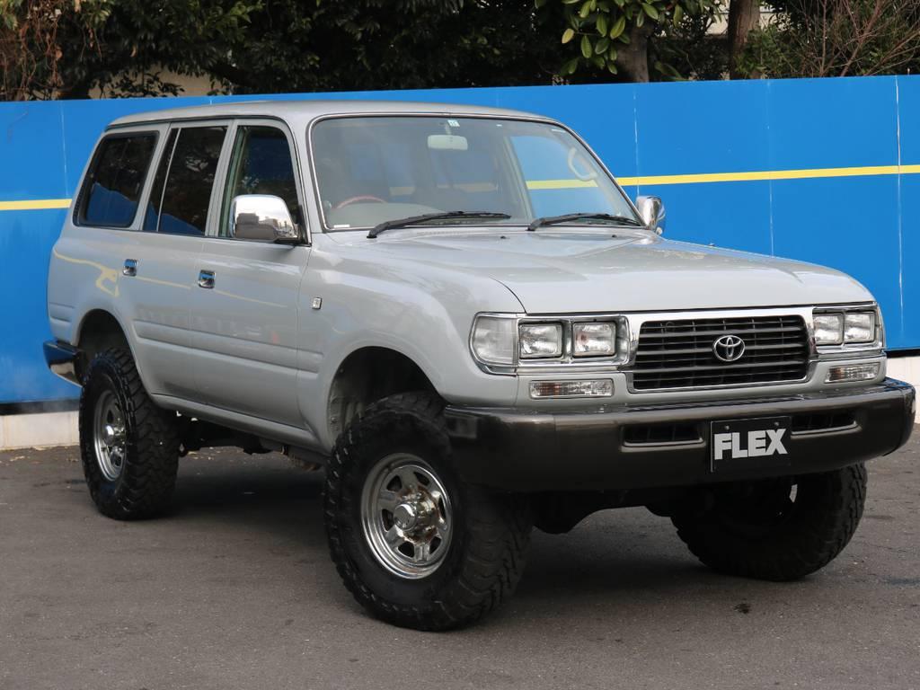 輸出用角目4灯!コーナー・ウインカー・サイドマーカークリア換装!ばっちりキマっております!   トヨタ ランドクルーザー80 4.5 GX 4WD