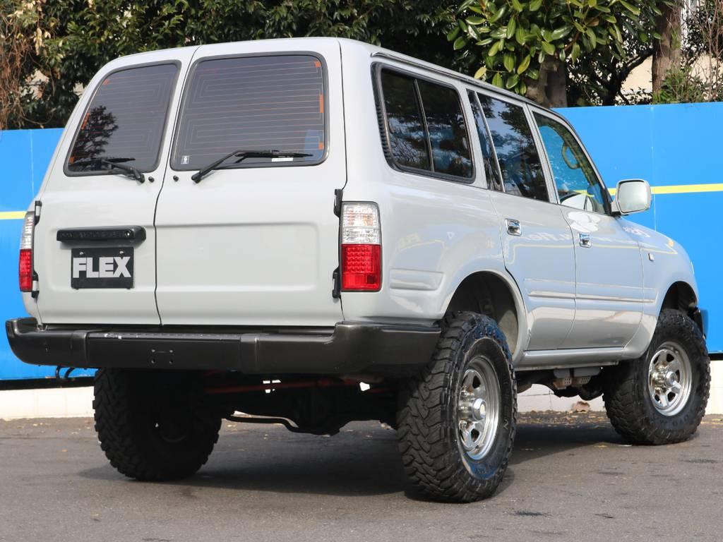 大人気の観音リア!レトロ感が半端じゃないこのスタイル!   トヨタ ランドクルーザー80 4.5 GX 4WD