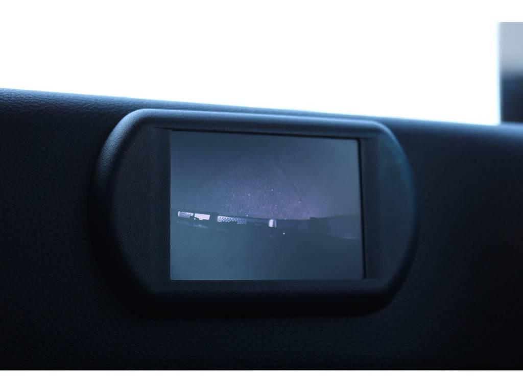 助手席側にはフェンダーミラーの代わりのモニターが装着されております!モニターには助手席側ミラー下のカメラの画像が映ります! | ジープ ラングラー アンリミテッド スポーツ 4WD