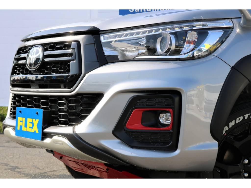 TRD、純正パーツが装着済み!! | トヨタ ハイラックス 2.4 Z ブラック ラリー エディション ディーゼルターボ 4WD TRDカスタムトラック