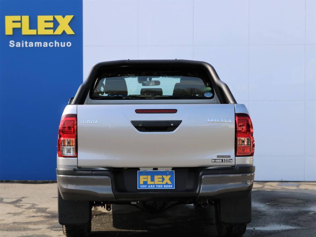 後ろから見ても、カッコいいですね♪ | トヨタ ハイラックス 2.4 Z ブラック ラリー エディション ディーゼルターボ 4WD TRDカスタムトラック