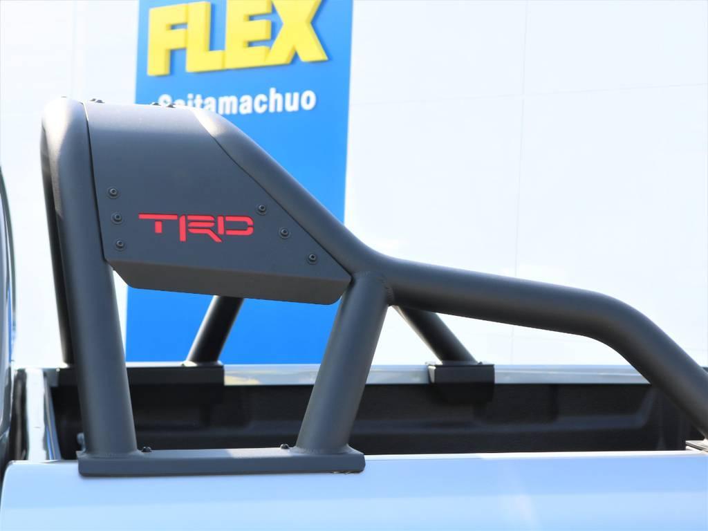 TRDスポーツバー付き。見た目もカッコいいですね♪ | トヨタ ハイラックス 2.4 Z ブラック ラリー エディション ディーゼルターボ 4WD TRDカスタムトラック