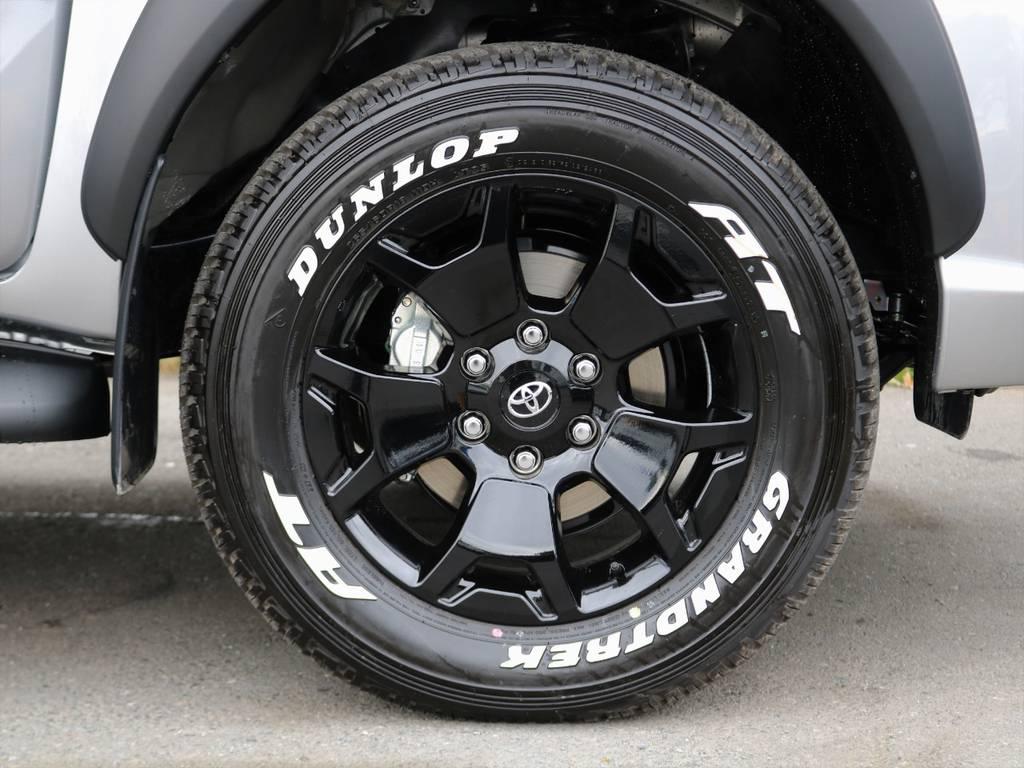 その他、タイヤ・ホイールの交換も承っております! | トヨタ ハイラックス 2.4 Z ブラック ラリー エディション ディーゼルターボ 4WD TRDカスタムトラック
