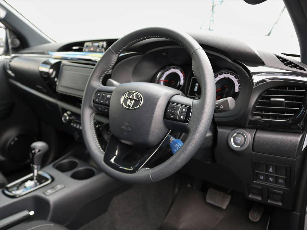 その他、ステアリングへの交換も承っておりますのでお気軽にお声がけください!! | トヨタ ハイラックス 2.4 Z ブラック ラリー エディション ディーゼルターボ 4WD TRDカスタムトラック