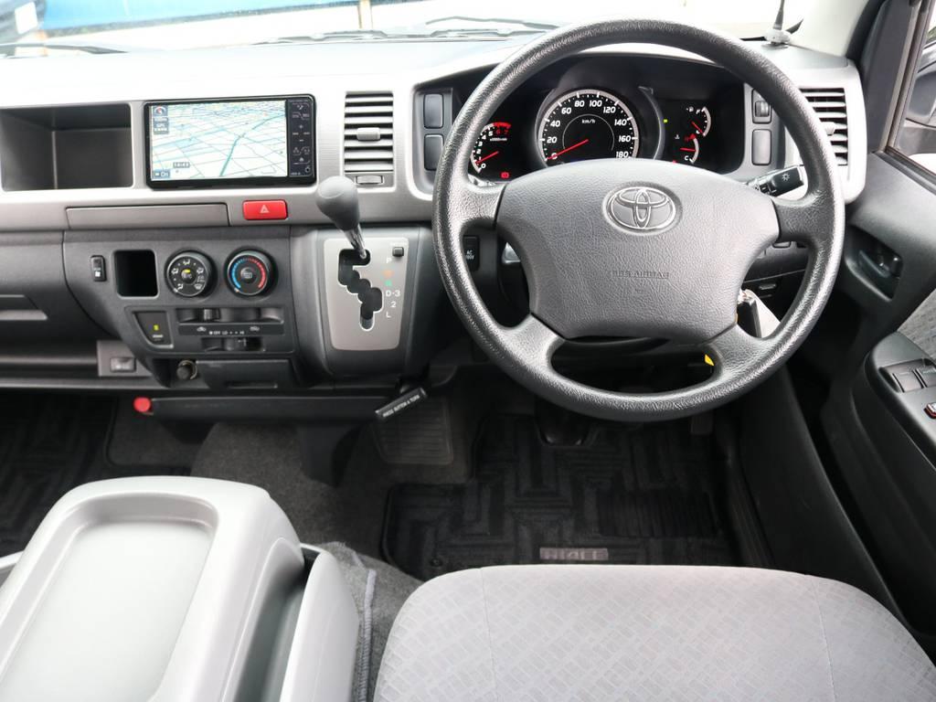走行35000キロらしい内装の綺麗さがあります | トヨタ ハイエースバン 2.7 スーパーGL ワイド ロング ミドルルーフ 4WD