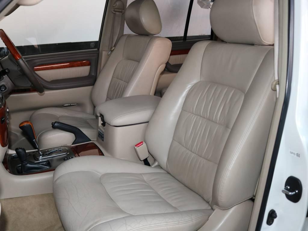 フロントシートはパワーシートです! | トヨタ ランドクルーザーシグナス 4.7 4WD